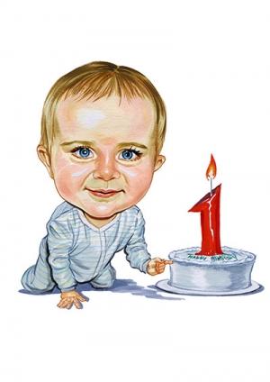 1st-Birthday-Caricature