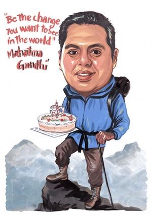 Birthday-Caricature-Mountain