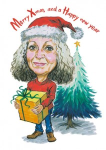 Christmas-Card-Caricature