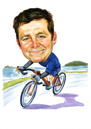 Cycling-Caricature