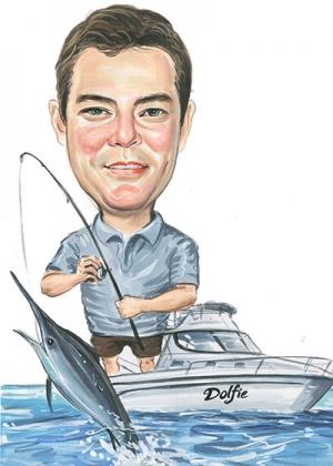 Fishing-Caricature