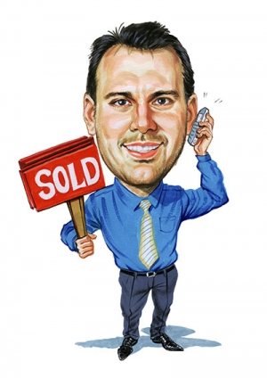 Realestate-Agent-Caricature