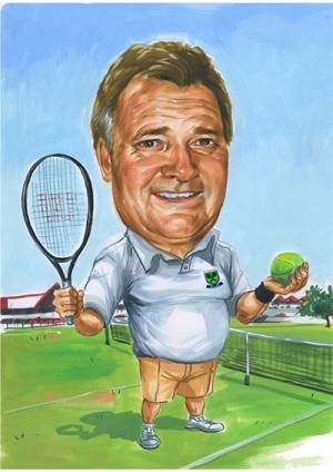 Tennis-Caricature
