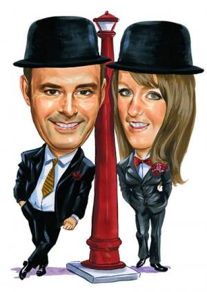 Top-hat-caricature